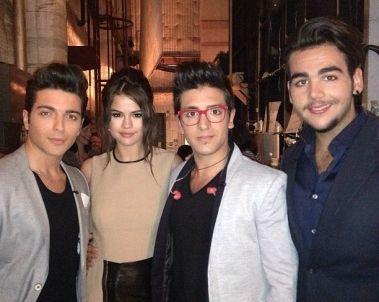 Selena Gomez conoce a Il Volo