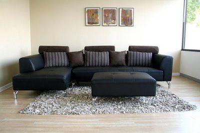 sofas modernos de couro