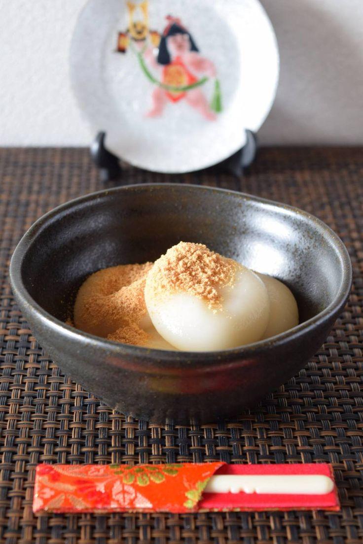 ホッとひと休みしたい時、お団子やお餅が食べたくなるものですよね。もう、これは、日本人の習性なんです。そう思った時は素直に食べましょう!(笑)無添加の甘酒で味付けをしてあるので砂糖は不使用、ヘルシーおやつです。きな粉をかけることで栄養価もアップ!