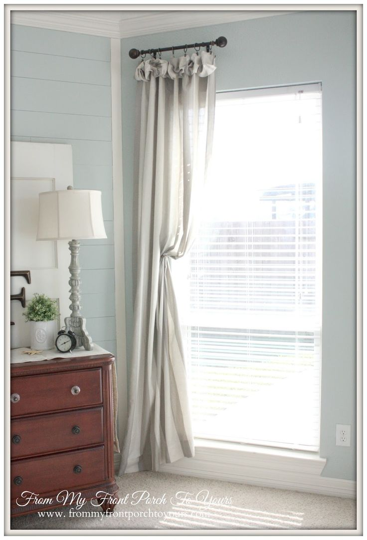 Cafe curtains for bedroom - French Farmhouse Bedroom Transformation