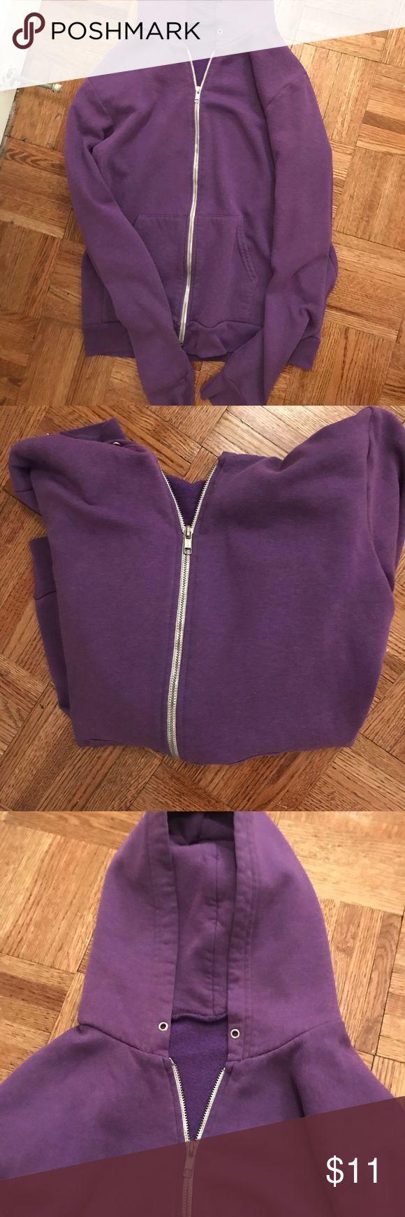 UNISEX American Apparel purple zip up hoodie AMERICAN APPAREL - unisex - purple - zip up  - hoodie American Apparel Tops Sweatshirts & Hoodies