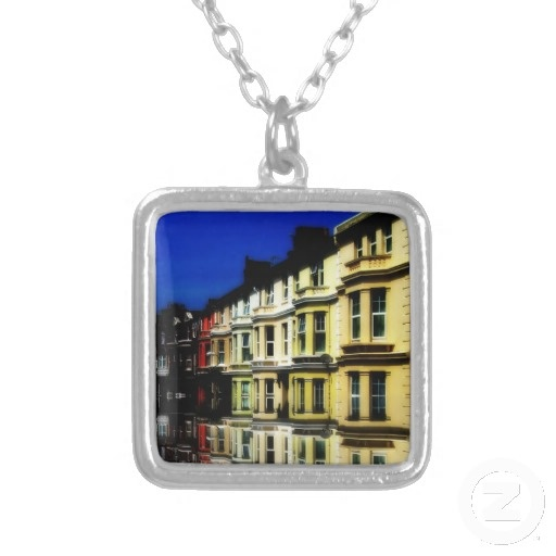 Homes in England at Night Necklace
