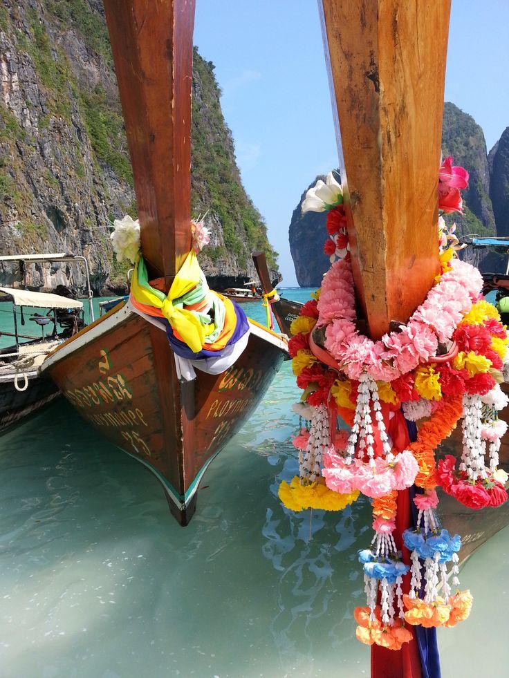 Longtail boats at Phi Phi Island, Thailand.