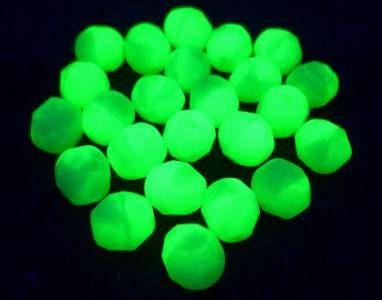"Lot of 60 Pcs Vtg Czech Uranium Vaseline GREEN WHITE Glass Round Beads 5/16"" 8mm by MuchMoreThanButtons on Etsy"