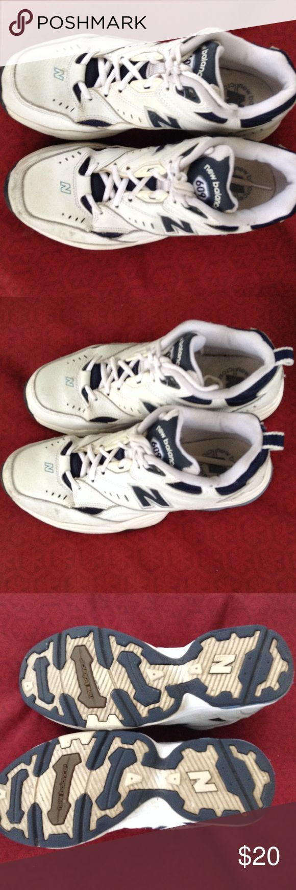 New Balance 609 US 10 UK 8 Navy Blue and White New Balance Shoes Athletic Shoes