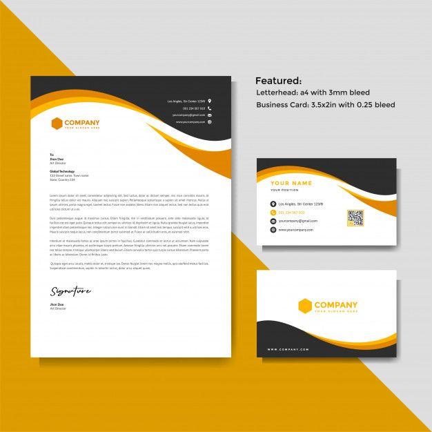 Professional Creative Letterhead And Bus Premium Vector Freepik Vector Business Card Template Green Letterhead Business Letterhead Letterhead Design
