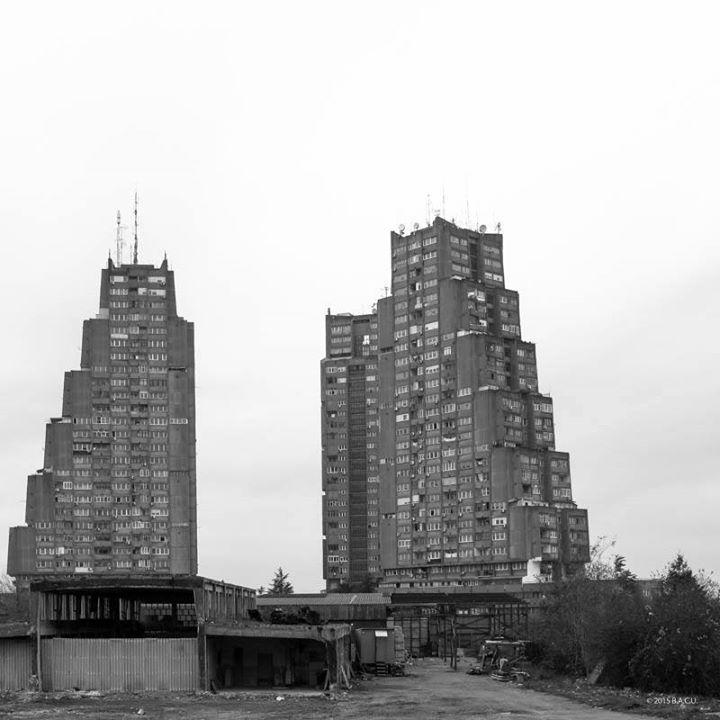 Eastern Gate of Belgrade, Rudo Buildings, (Istočne Kapije) Belgrade, Serbia, built in 1976, Architect: Vera Ćirković Engineer: Milutin Jerotijević