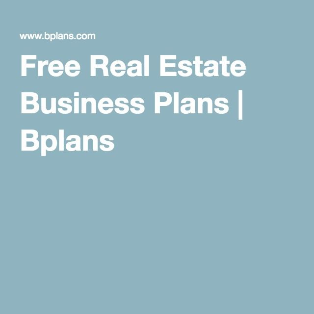 Best Real Estate Business Plan Ideas On Pinterest Real - Real estate business plan template