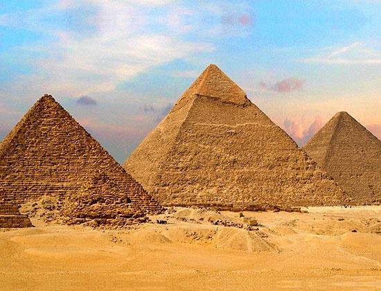Die Großen Pyramiden von Gizeh in Ägypten