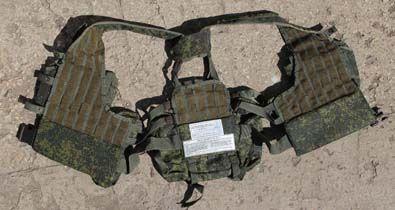 6Ш112 Комплект снаряжения, с ранцем. Разведчик-Стрелок. - 6Ш112 Комплект снаряжения - вид на тыльную сторону жилета.