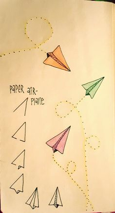 Dibujar aviones de papel