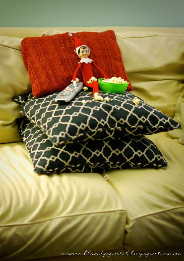"Elf on the Shelf idea: Elf watching ""Elf""! #elfontheshelf"