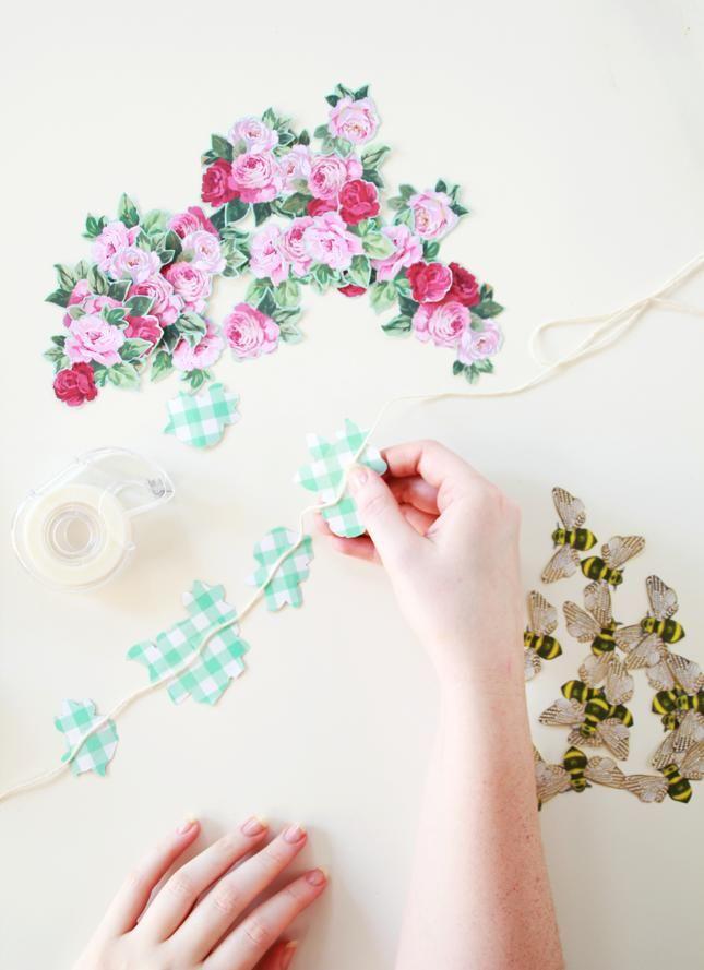 DIY Paper Garland : DIY | Flowers U0026 Bees â?? Paper Garlands For Spring Nice Look