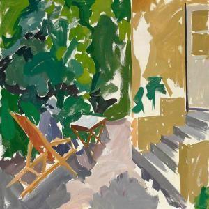 Edvard Weie - dame on terrace