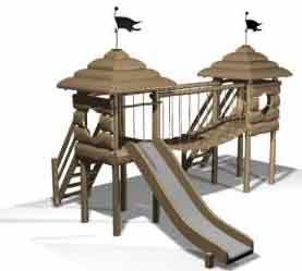 Деревянная детская площадка Classic 6 ( 6-14 лет)