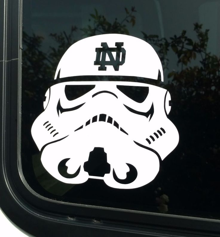 Notre dame decalstar wars storm trooperdie cut vinyl stickeruniversity decal