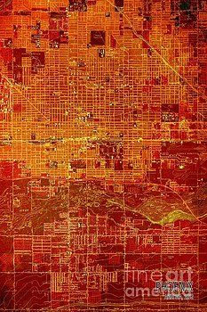 Pablo Franchi - Phoenix Arizona Red Map