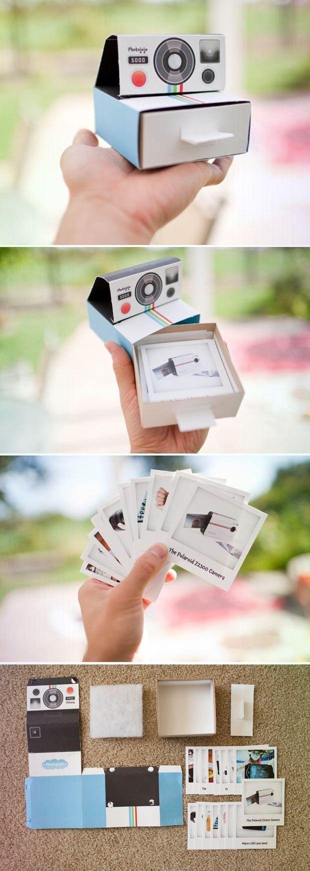 Einzigartige und Kreative Eine intelligente Werbekamera Polaroid Promo Mailer aus Pappe
