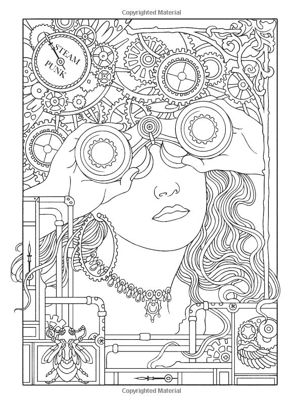 Amazon Creative Haven Steampunk Designs Coloring Book Books