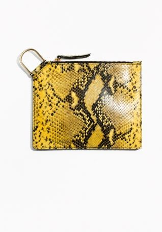 & Other Stories   D-Ring Leather Clutch