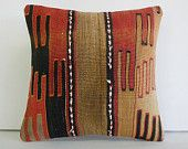 """16""""colorful fade floor midcentury pillow kilim rug southwest pillow cover throw bohemian pillow case kilim traditional cushion cover outdoor"""