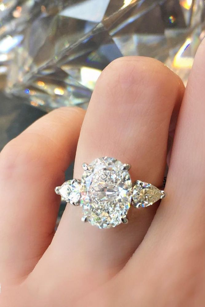 24 Oval Engagement Rings As A Way To Get More Sparkle ❤ See more: http://www.weddingforward.com/oval-engagement-rings/ #wedding #oval #engagement #rings