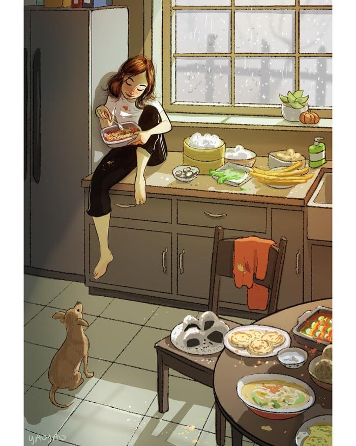 16 Drawings Describe People Who Are Happy To Live Alone Alone Art Girly Art Dog Illustration