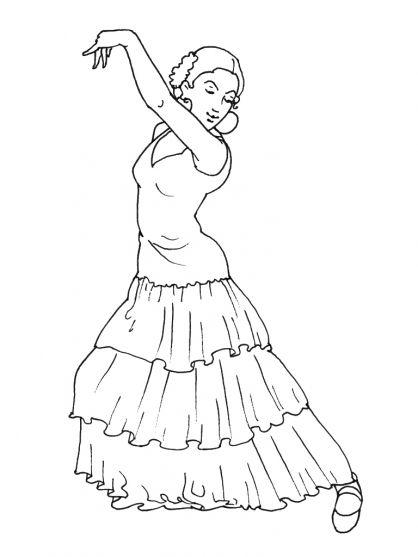 comment dessiner une danseuse de flamenco