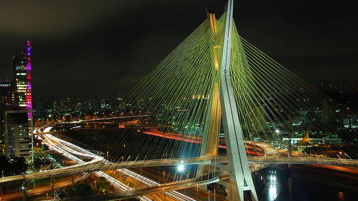 Ponte Estaiada Bridge; Sau Paulo, Brazil