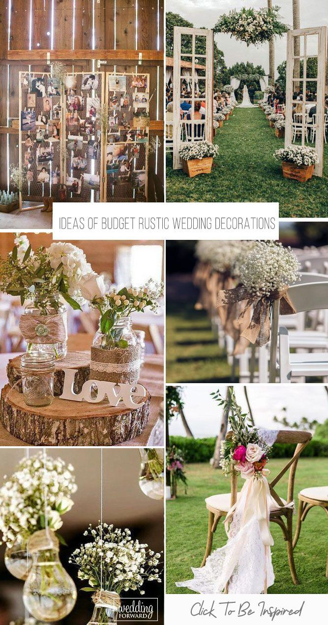 36 Ideas Of Budget Rustic Wedding Decorations | Wedding Forward | Rustic  wedding decor, Outdoor wedding decorations, Rustic wedding