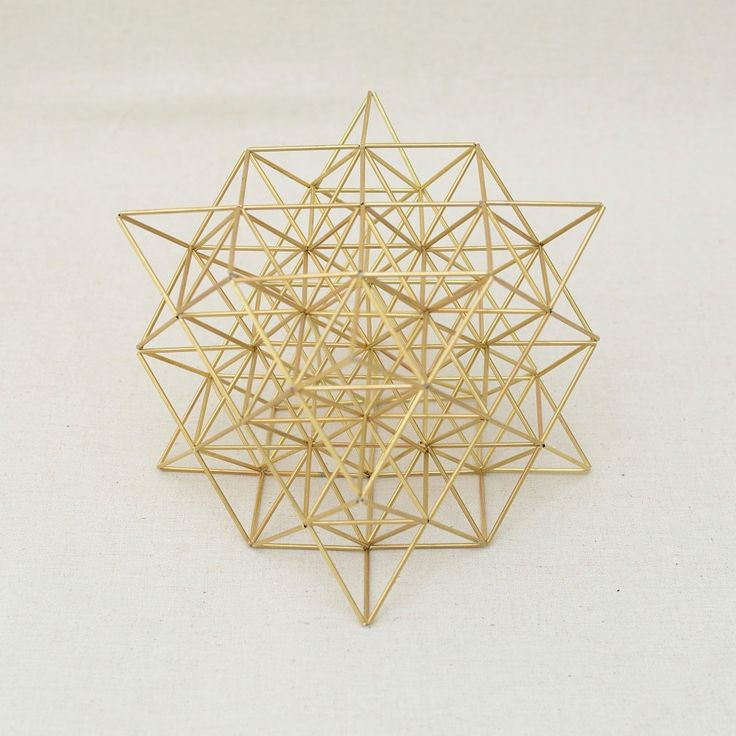 Flower of Life 3D by Nassim Haramein, Sacred Geometric Himmeli Hanging Brass, Silver or Golden plated Mobile Home Decor