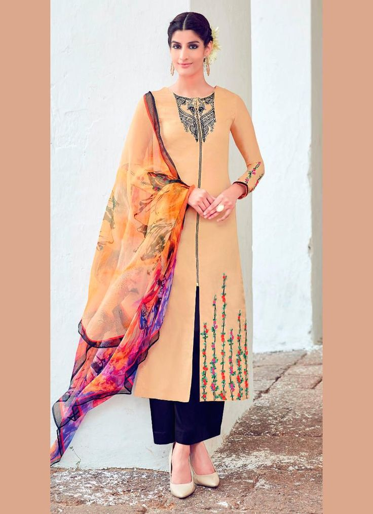 Mod Cotton Satin Digital Print Work Designer Suit