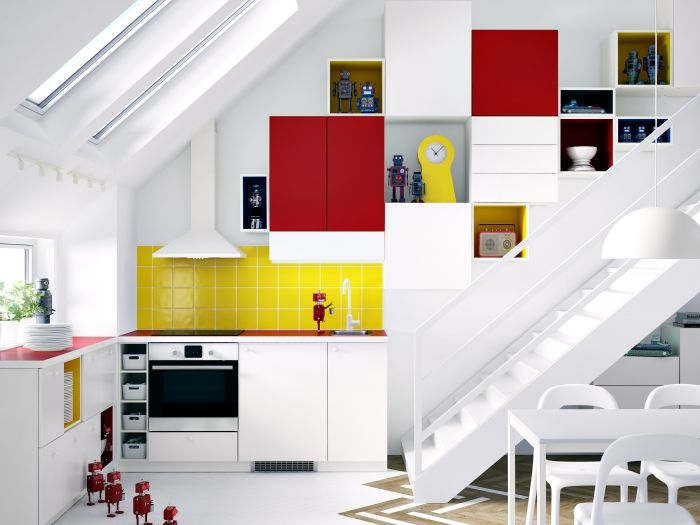 Lovely modular kitchen cabinets with flat fronted doors