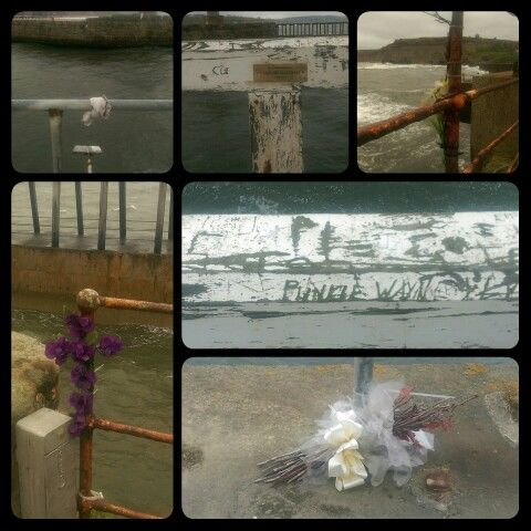 Whitby East Pier. Commemorations and remains. 2014