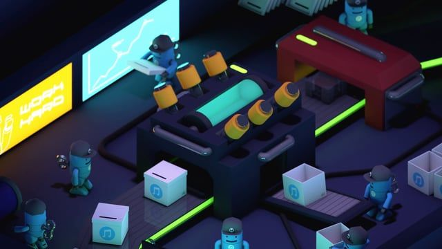 The Music Factory is my graduation project in VFS Digital Design program. It is a bumper for a fictitious music channel, with a message of being different and unique.  Art Direction & Modeling& Animation: Bill Fu  Music: The Funky Stuff by David Hamilton (Premium Beat) Special Thanks to:Jesse Davidge, Nida Fatima,and all the instructors and students from Digital Design Program