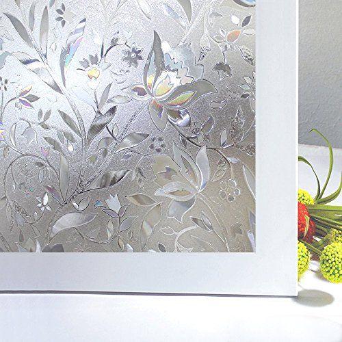 Rabbitgoo Superior Premium No-Glue Frosted 3D Reusable Static Illuminative Decorative Privacy Frost Home Bedroom Bathroom Kitchen Glass Window Films Sticker Flower Design,2Ft X 6.5Ft.(60 x 200Cm) Rabbitgoo http://www.amazon.co.uk/dp/B00RDVDRJA/ref=cm_sw_r_pi_dp_2jxGwb0FFY5QJ