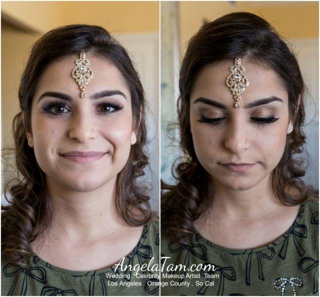 Orange County Ritz Carlton Laguna Beach Indian South Asian Bride Sandeep Makeup Artist