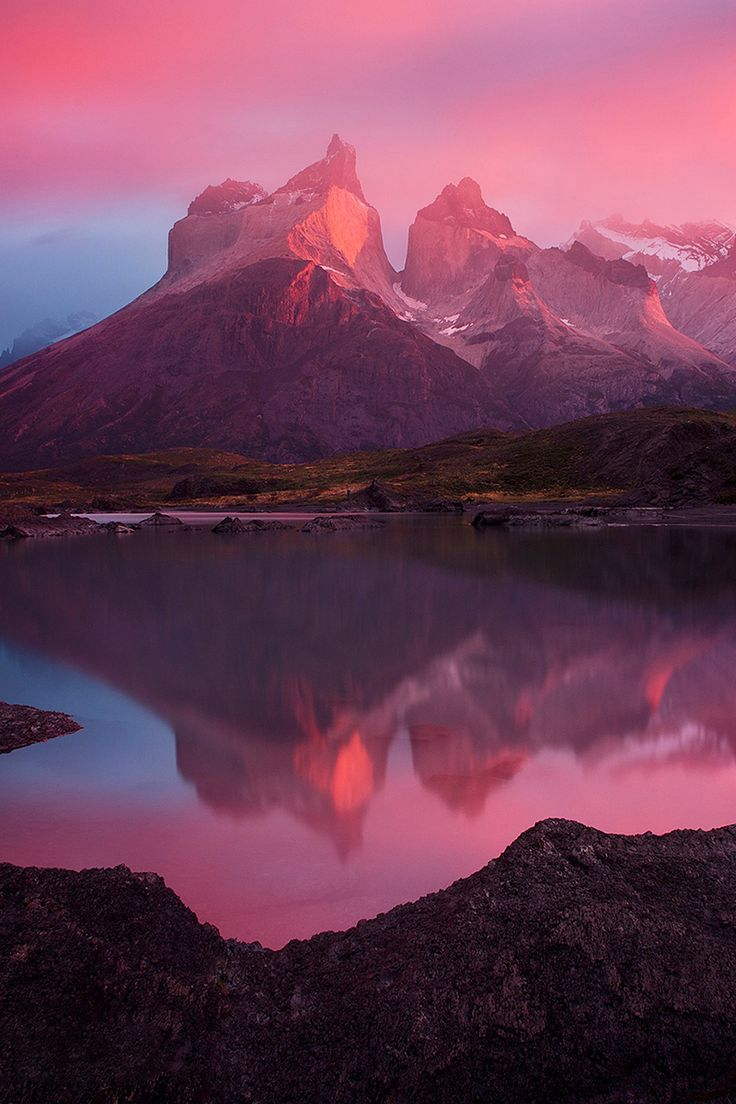 Eternal Mirror, Patagonia, Chile, by Ian Plant, on 500px.(Trimming)