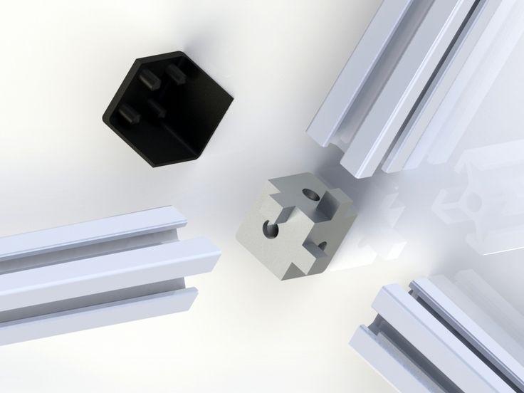 Aluminium+profile+2020+6mm+plug+for+3+profiles+and+cover+by+QGJ37.