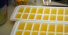 Saviez vous qu'on peut conserver le jus de citron au congélateur ?