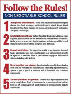Student Rules Poster