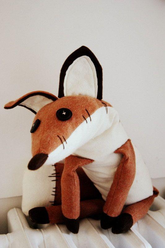 Pdf sewing pattern Fox Stuffed Animal Fox by lauracountrystyle