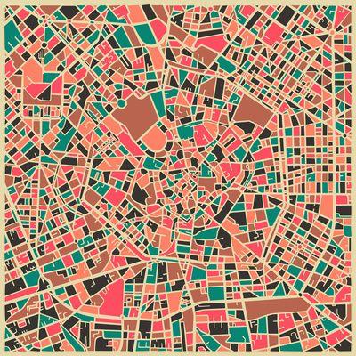 Jazzberry Blue #grafica #pattern #colori #mappa #milano