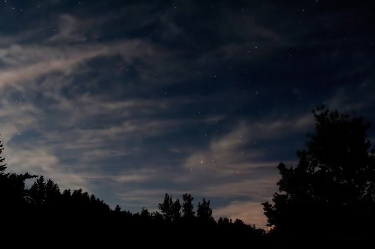 Whispy clouds lit by the Moon with Antares and the constellation of Scorpio. Taken from Conestoga Lake Conservation Area in Ontario. Featured online at Skynews.ca magazine Picture of the Week.