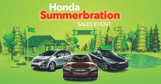 Get refreshed! Last chance to get yourself into a new Honda lease with the incredible savings from the Summerbration Sales Event! #newcar…