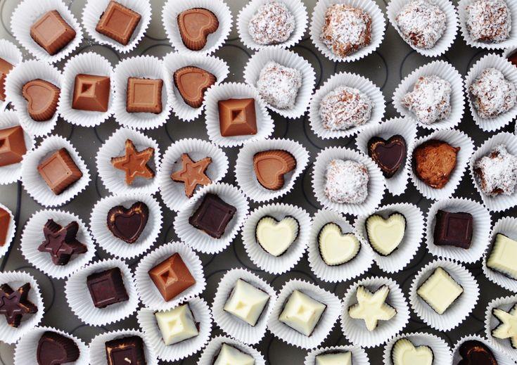 czekolada, heart, sweet, love, chocolate, czekoladki, słodycze