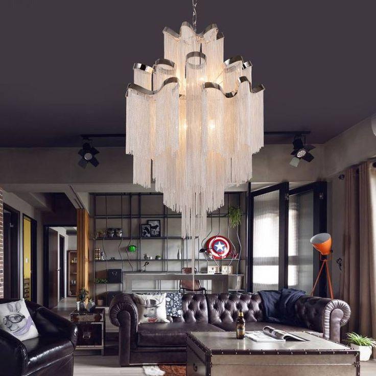 Best Staircase Engineering Lamp Luxury Design Chain Tassel 400 x 300