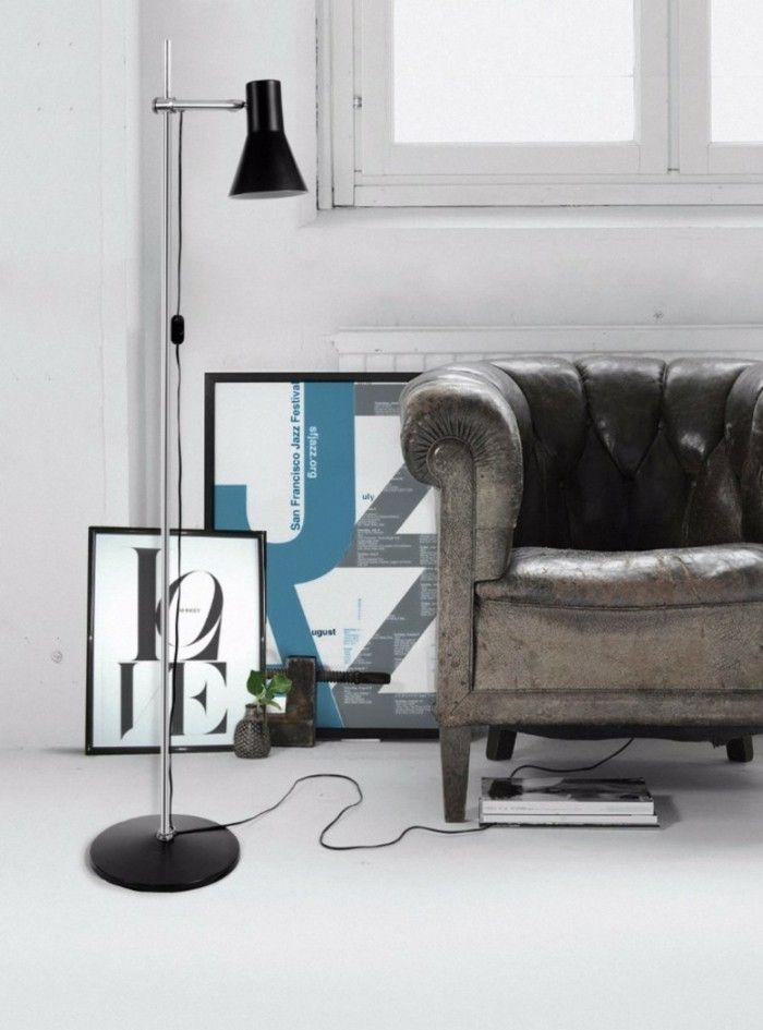 Wohnzimmer Lampe Industrielle Stehlampe In Schwarz