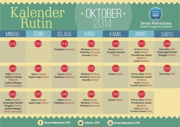2014 October [Event Calendar Poster]