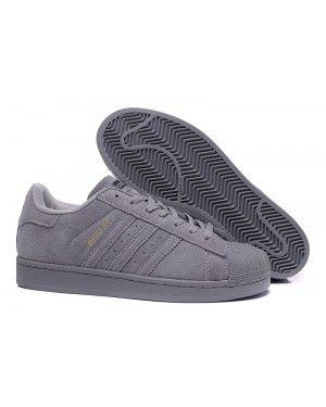 Adidas Superstar Grey Suede Womens